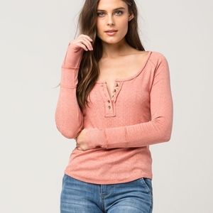 FREE PEOPLE sugar & spice henley | small
